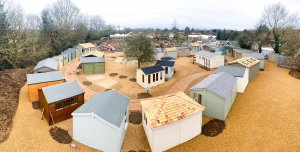 Arial shot of St Albans Show Site in Hertfordshire
