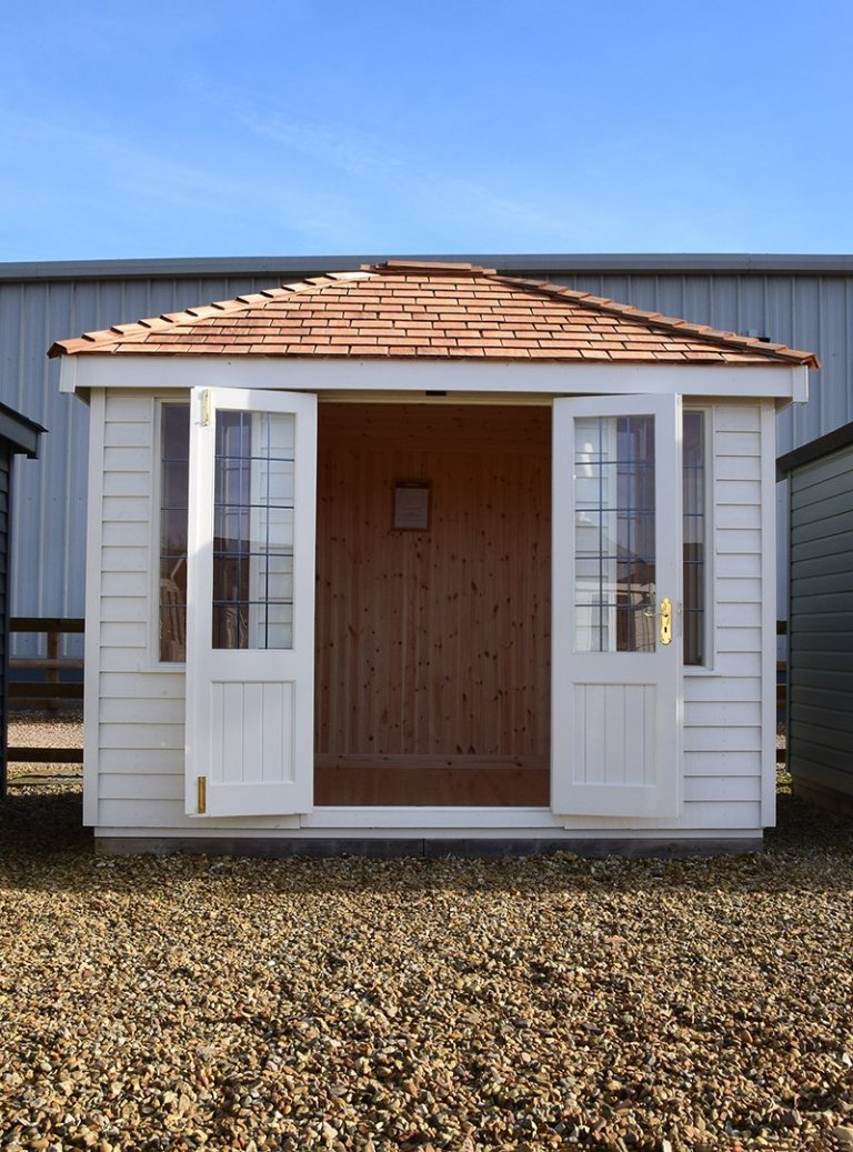 Narford 2.4 x 3.0m Cley Summerhouse with open doors