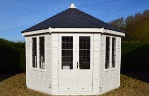 Narford 3.6 x 3.6m Wiveton Summerhouse in Cream