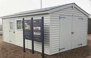 3.6 x 6.0m Timber Garage on Display at St Albans