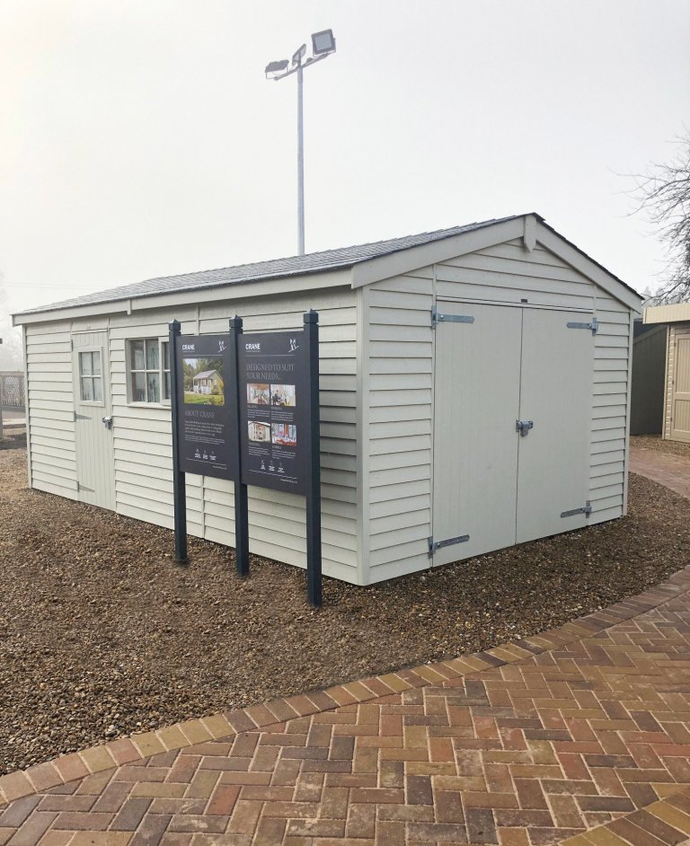 3.6 x 6.0m Timber Garage on Display at St Albans