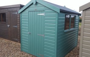 Brighton Classic Shed 1.8 x 2.4m in Mint with Apex roof