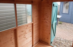 Interior of the Brighton Classic Shed 1.8 x 2.4m in Mint