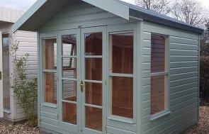 Side profile of the Brighton 2.4 x 2.4m Blakeney Summerhouse in Lizard