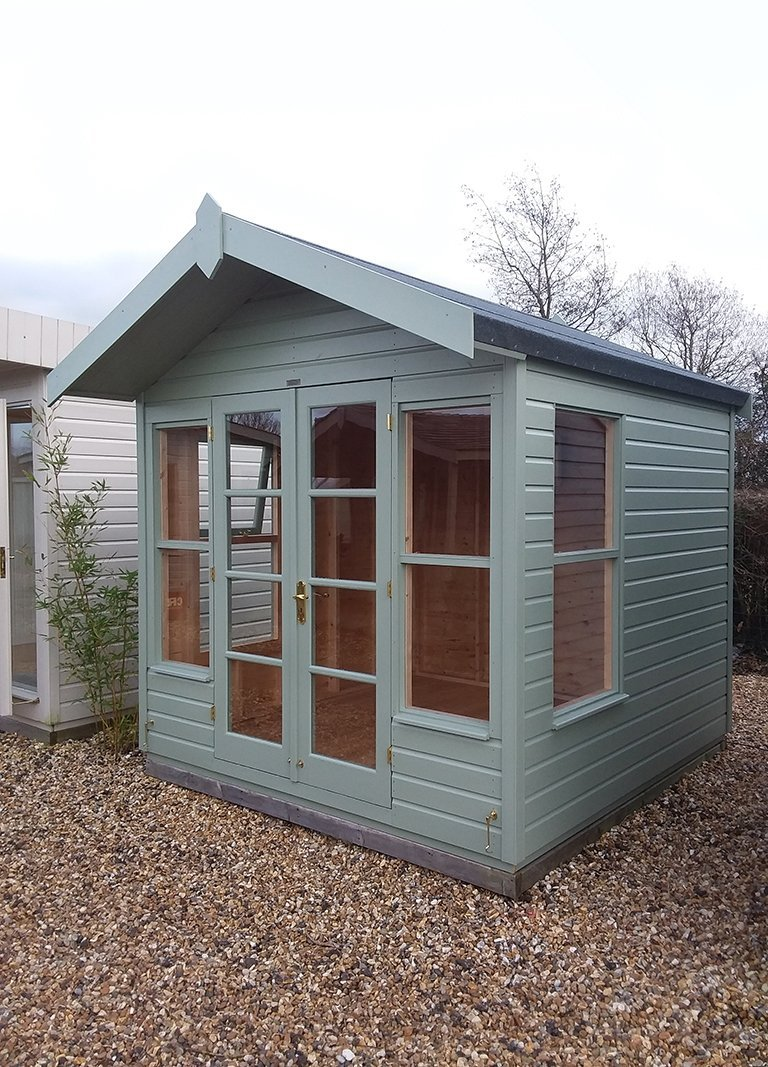 Side profile of the Brighton 2.4 x 2.4m Blakeney Summerhouse
