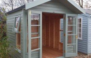 Brighton 2.4 x 2.4m Blakeney Summerhouse with double door in Lizard