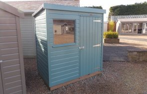 Burford 1.2 x 1.8m Classic Shed in Mint from our Classic Paint System