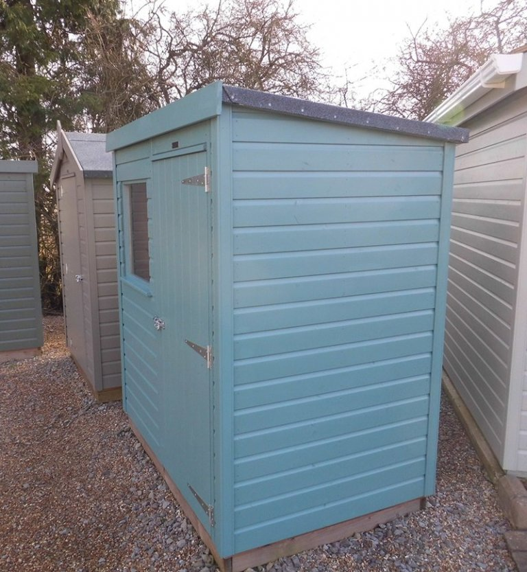 Side profile of the Burford 1.2 x 1.8m Classic Shed