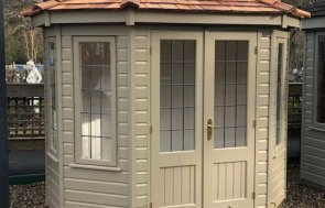 Sunningdale 1.8 x 2.5m Wiveton Summerhouse painted in Taupe