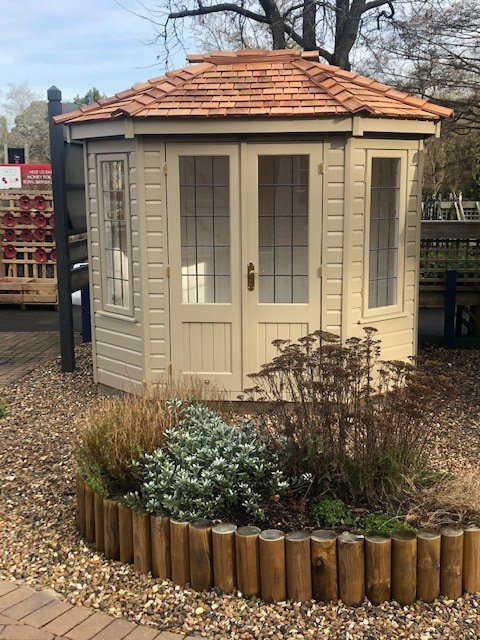 Front view of the Sunningdale 1.8 x 2.5m Wiveton Summerhouse