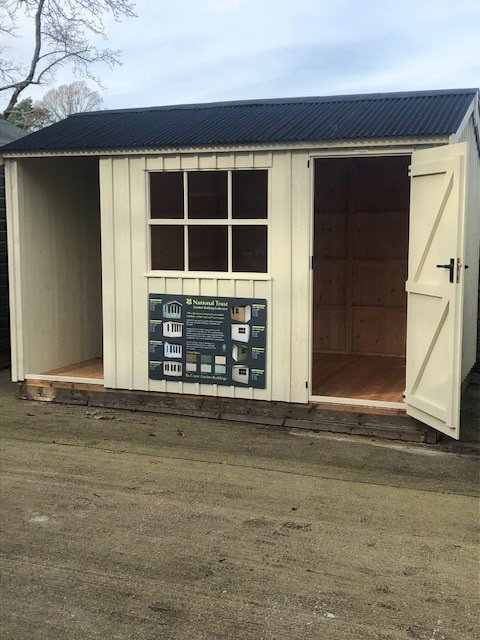 Sunningdale Blickling Shed 2.4 x 3.6m with open door