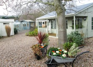 Nottingham Show Site - on display is the Pavilion Garden Room along with a few studios