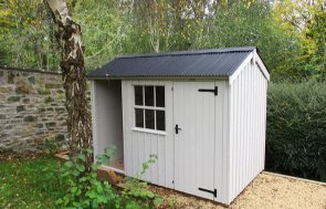 1.8 x 3.0m Blickling National Trust Shed painted in Earls Grey