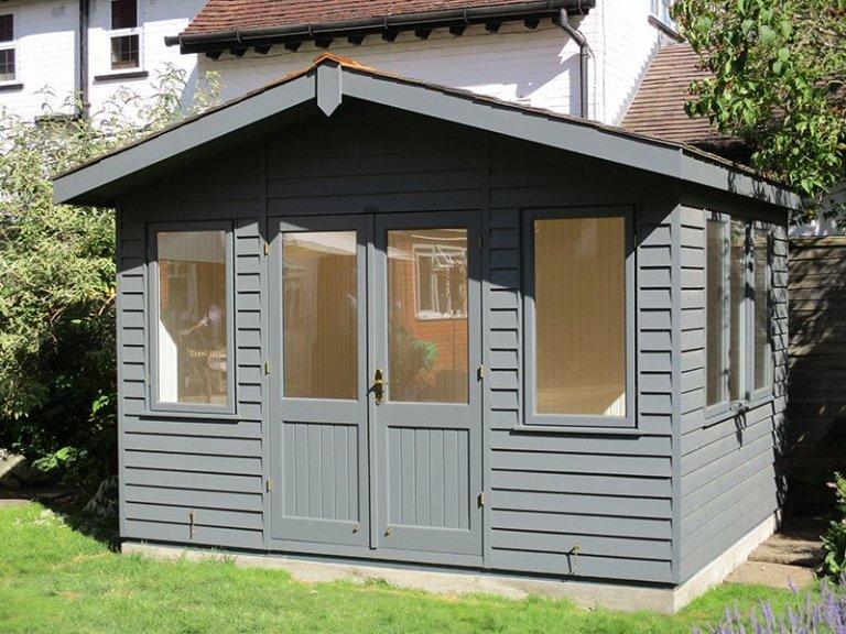 3.6 x 3.0m Apex Roof Binham Studio in Farrow & Ball Down Pipe