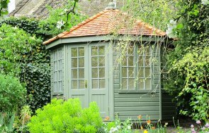 3.0 x 3.0m Wiveton Summerhouse with colour matched paint - Dulux Chive