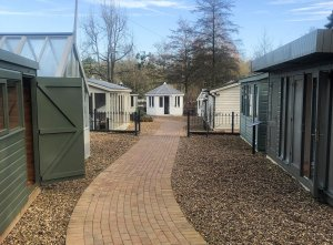 Sunningdale show site - Summerhouses, sheds and studios