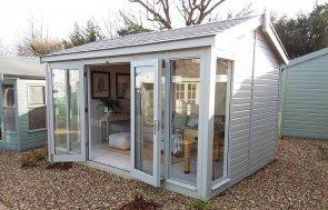 Exterior of Cranleigh Burnham 3.0 x 4.2m with open doors