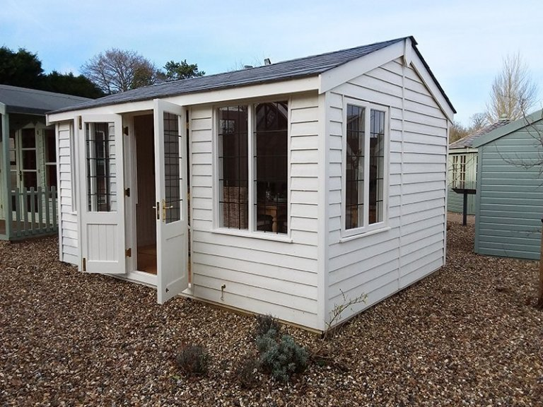 Holkham Summerhouse at Cranleigh with open doors