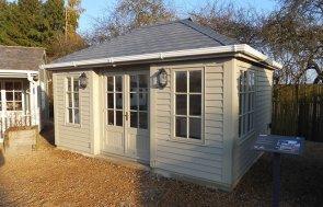 3.6 x 4.8m Garden Room in Farrow & Ball Light Gray at Burford