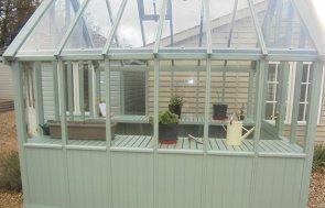 Newbury 2.4 x 3.0m Greenhouse in Sage