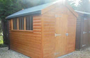 Newbury 2.4 x 3.0m Superior Shed in Sikkens Teak