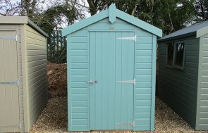 1.5 x 2.1m Classic Shed at St Albans painted in Mint from our Classic Paint System