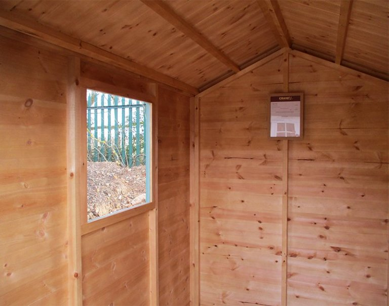 Inside the St Albans 1.5 x 2.1m Classic Shed