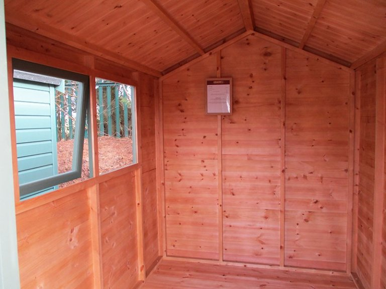Inside the St Albans 1.8 x 2.4m Classic Shed