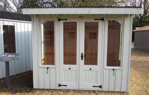 1.8 x 2.4m National Trust Flatford Summerhouse at St Albans in Disraeli Green