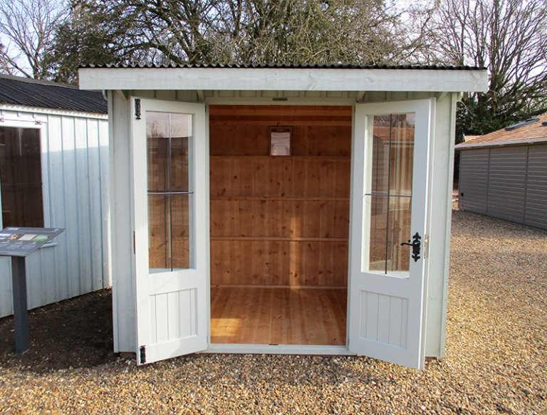 St Albans 1.8 x 2.4m National Trust Flatford Summerhouse with open doors