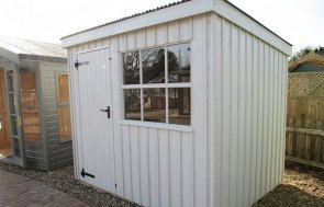 St Albans 1.8 x 2.4m National Trust Oxburgh Shed in Earls Grey