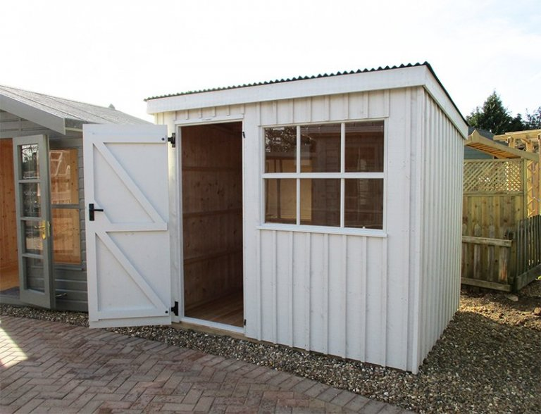 St Albans 1.8 x 2.4m National Trust Oxburgh Shed with open door