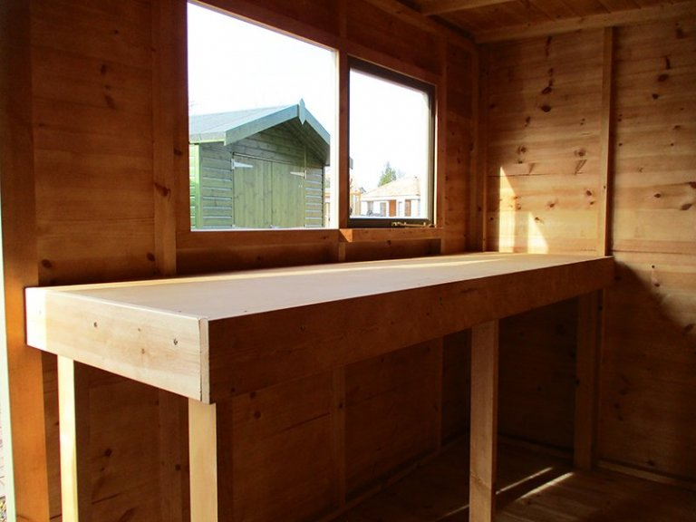 Inside the St Albans 1.8 x 3.0m Pent Roof Classic Shed