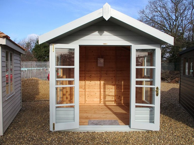 St Albans 2.4 x 2.4m Blakeney Summerhouse with open doors