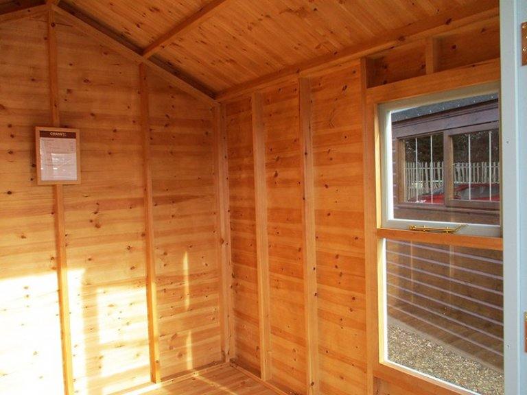 Inside the St Albans 2.4 x 2.4m Blakeney Summerhouse