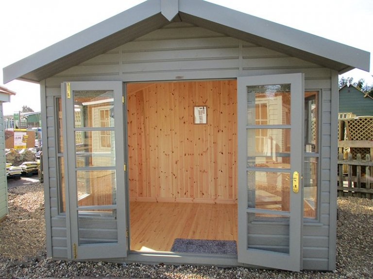St Albans 3.0m x 2.4m Blakeney Summerhouse with open doors