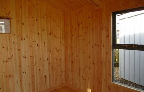 Inside the St Albans 3.0m x 2.4m Blakeney Summerhouse painted in Ash from our exterior paint system