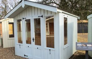 St Albans 2.4 x 2.4m National Trust Ickworth Summerhouse coated in Painters Grey from the National Trust Paint System