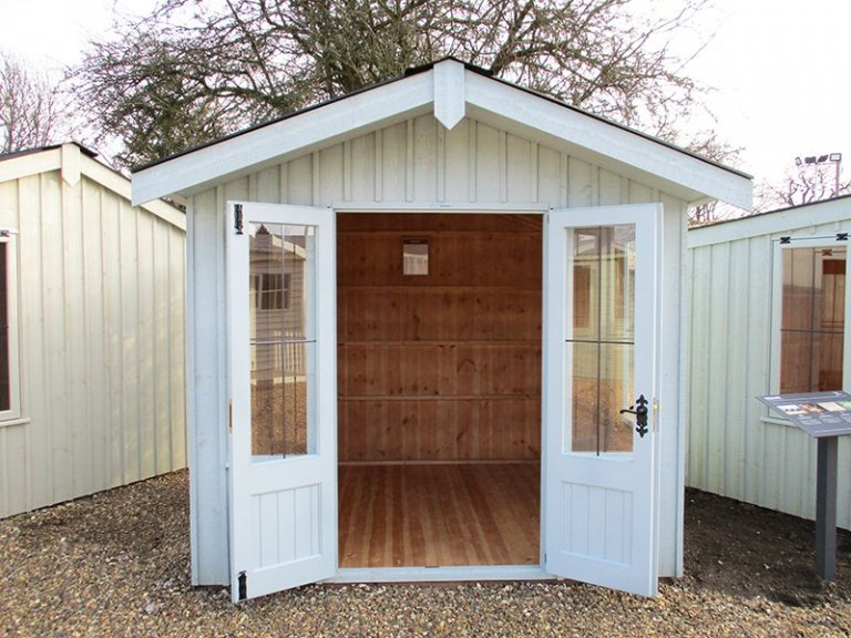 St Albans 2.4 x 2.4m National Trust Ickworth Summerhouse with open doors