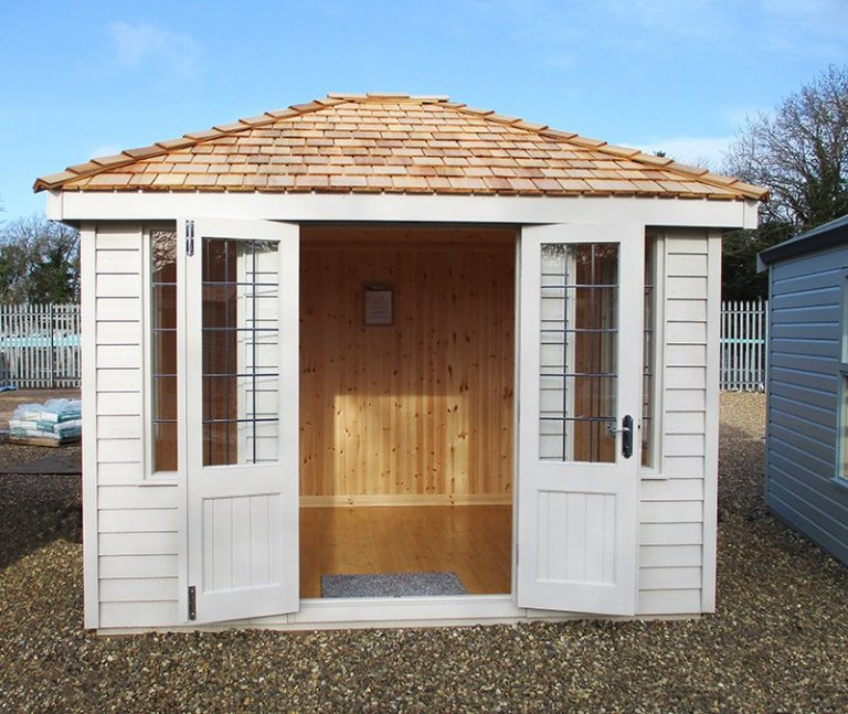 St Albans 2.4 x 3.0m Cley Summerhouse with open double doors