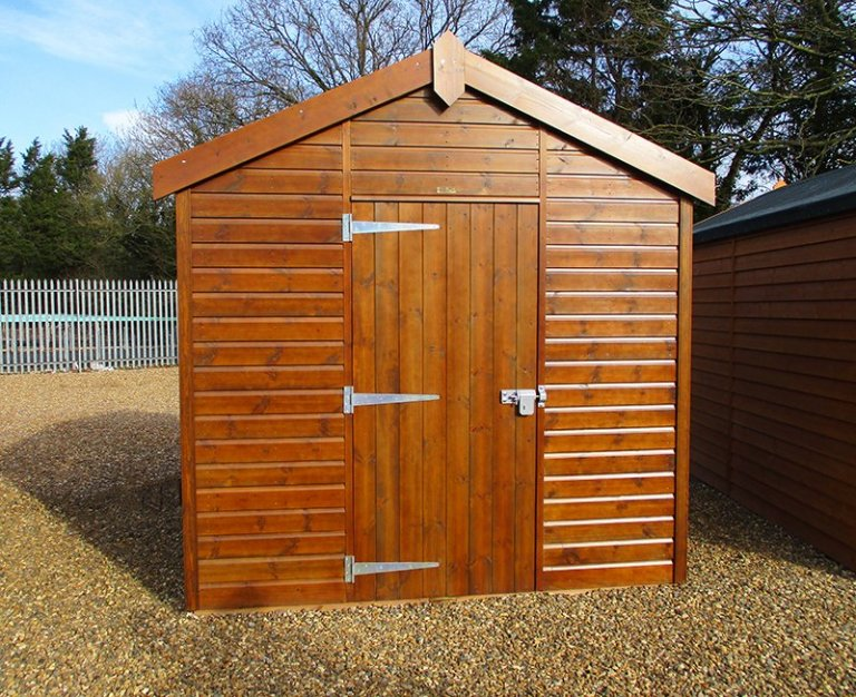 2.4 x 3.0m Sikkens Walnut Superior Shed at St Albans