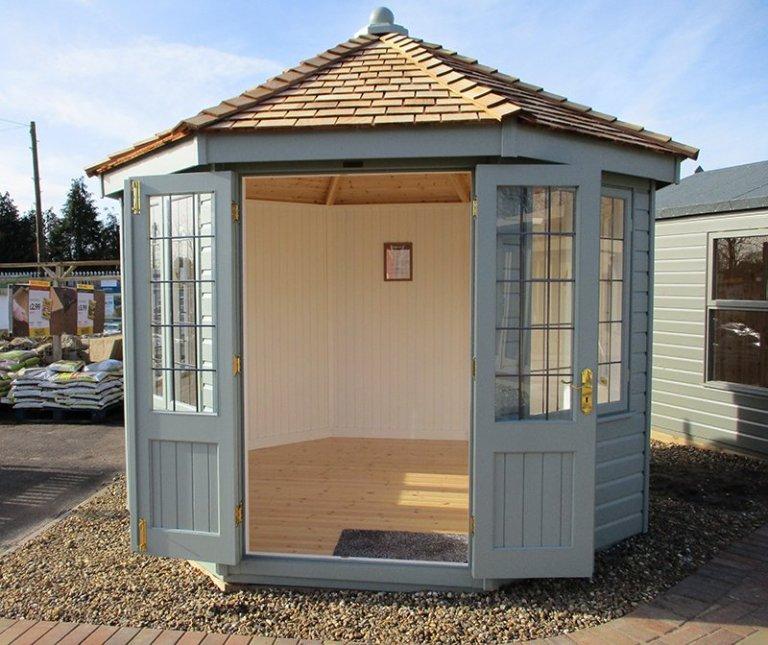 St Albans 3.0 x 3.0m Wiveton Summerhouse with open double doors