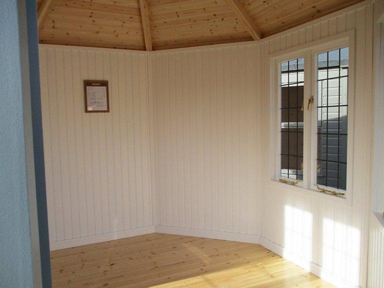Interior shot of the St Albans 3.0 x 3.0m Wiveton Summerhouse