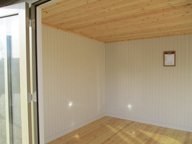 Inside the 3.0 x 4.8m Salthouse with Storage Partition at St Albans