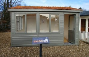 3.6 x 4.2m Langham Studio at St Albans in Ash from our exterior paint system