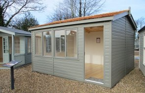 St Albans 3.6 x 4.2m Langham Studio in Ash from our exterior paint system