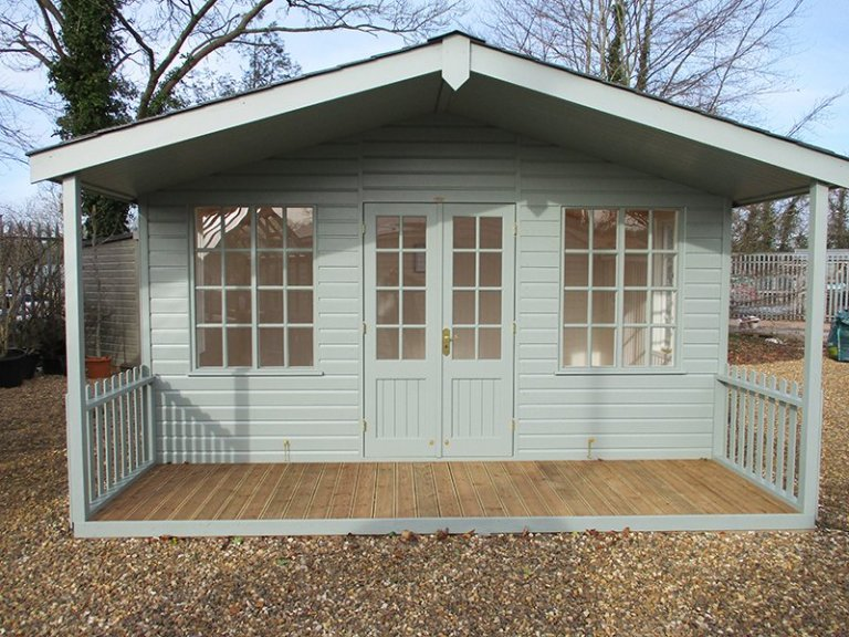 4.2 x 4.2m Morston Summerhouse at our St Albans show site