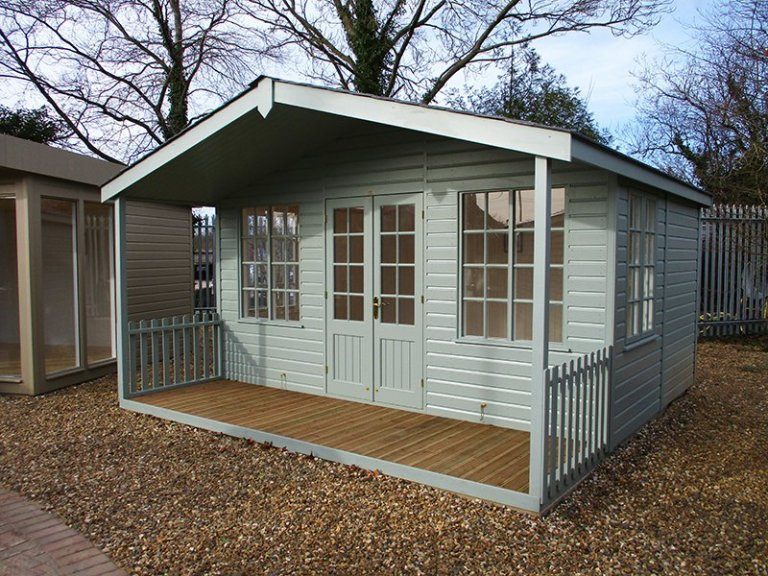 Our St Albans show site 4.2 x 4.2m Morston Summerhouse