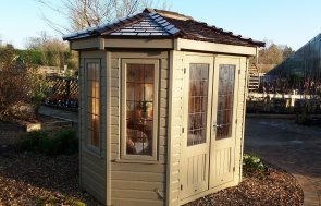 Cranleigh 1.8 x 2.5m Wiveton Summerhouse painted in Taupe