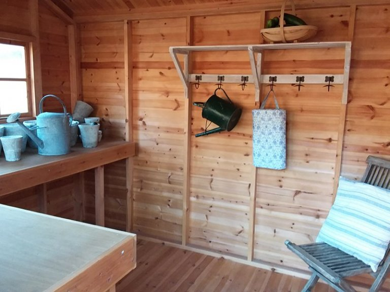 Inside the Cranleigh 2.4 x 3.0m Weatherboard Superior Shed